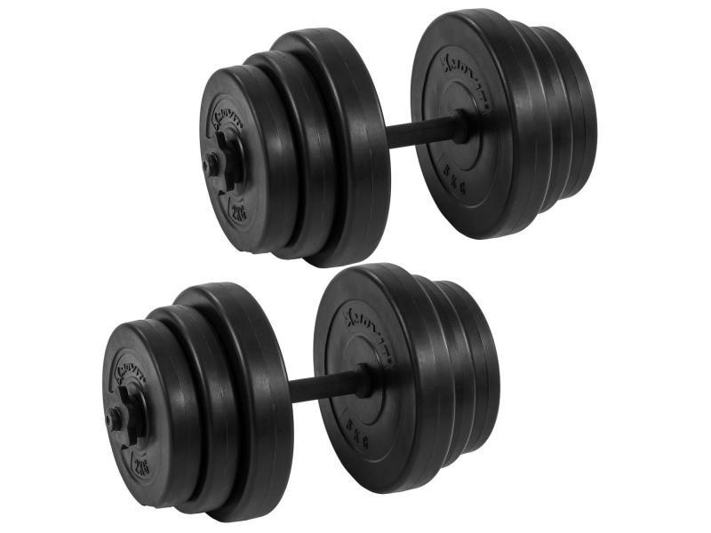 Movit® lot d'haltères courts 20kg (2x10kg) ou 30kg (2x15kg) ou 40kg (2x20kg) - couleur : 2 x 20kg