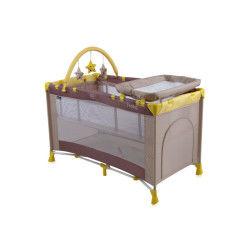 Lit parapluie bébé / lit pliant à 2 niveaux penny 2+ beige