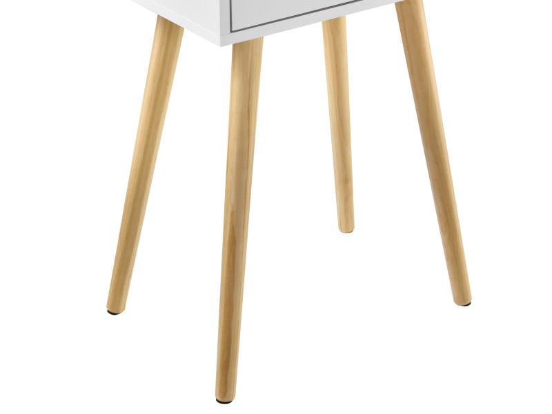 en.casa] petite table avec tiroir table de nuit table de ...