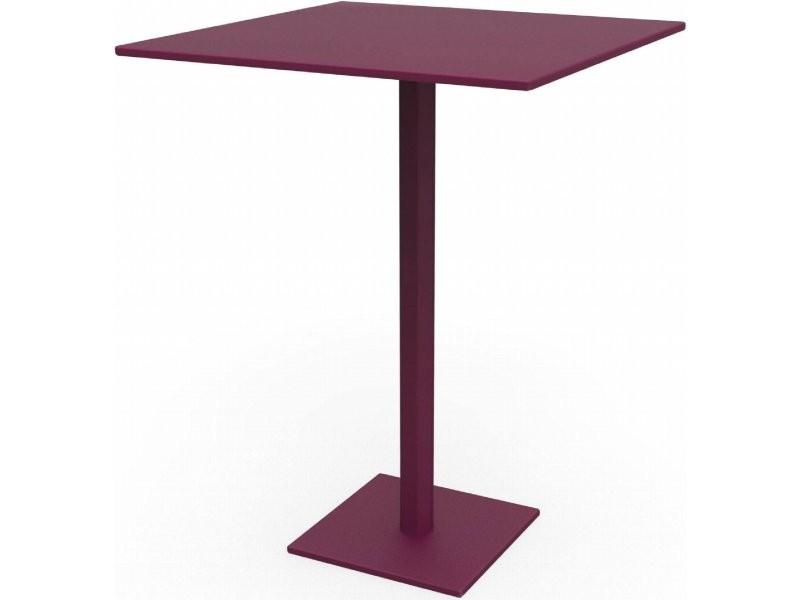 Tables carrées hexagone violet prune Ta_HEX_Car80_h75_Pru