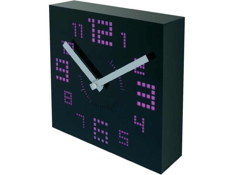 horloge led noir 20 cm design vente de horloge conforama. Black Bedroom Furniture Sets. Home Design Ideas