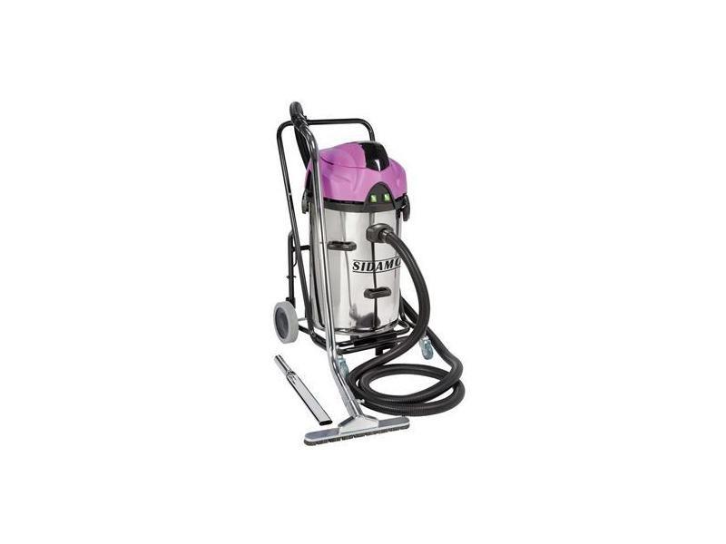 Aspirateur eau et poussieres inox a decolmatage special ramonage 2x1200 w 78 l, sdm20402049 20402049