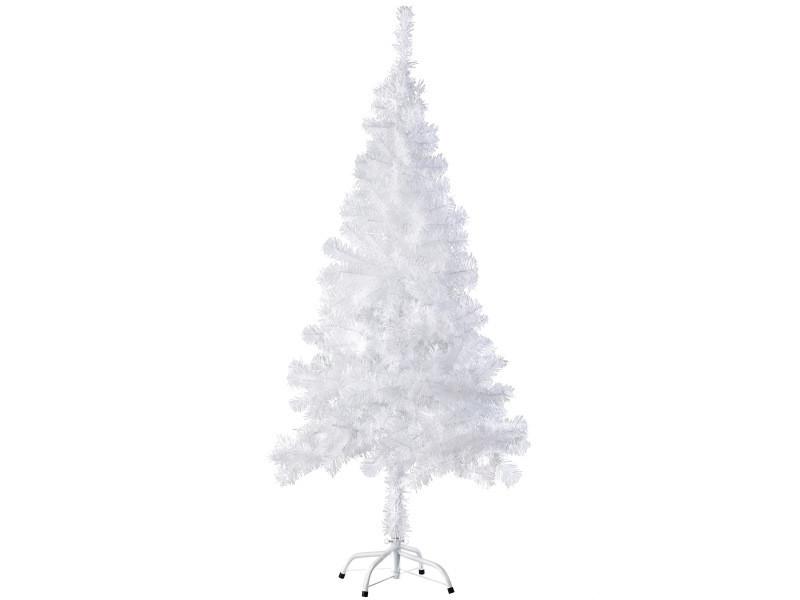Tectake sapin de noël artificiel - 150 cm - blanc | 310 branches 402818