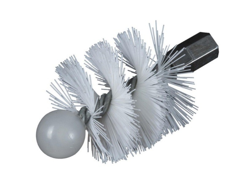 Ribolla - brosse hérisson rond pour poêle ø 120mm