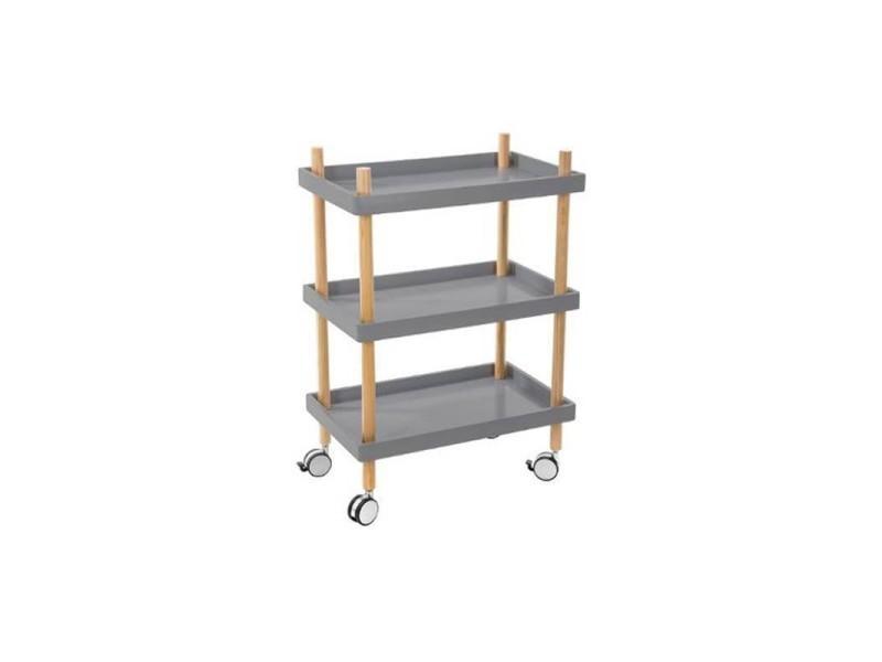 desserte de cuisine rectangle jerry grise vente de atmosphera conforama. Black Bedroom Furniture Sets. Home Design Ideas