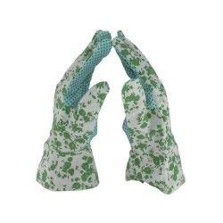 Cap vert - gants de jardin coton molletonné taille 7