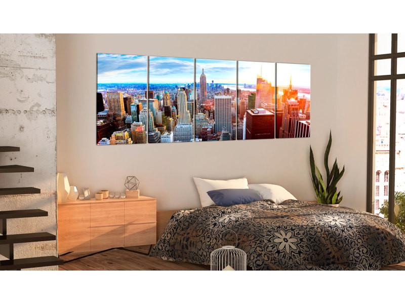 200x80 tableau new york villes sublime new york: sunrise