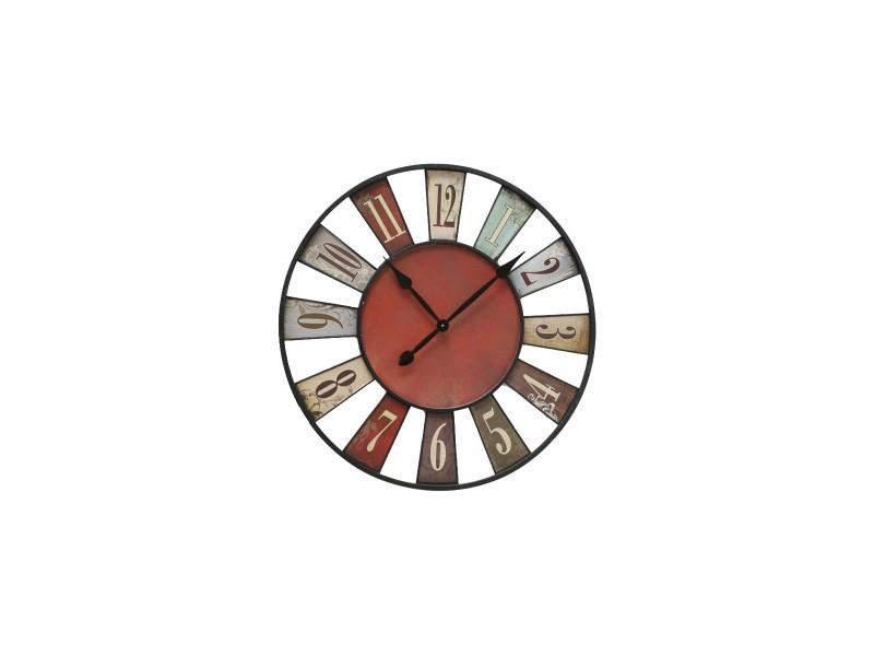 Horloge murale originale multicolore bilbao 74cm vente de horloge conforama for Horloge murale multicolore