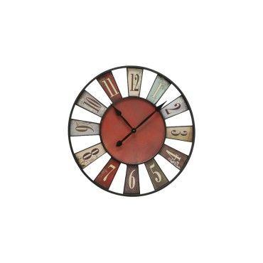 horloge murale originale multicolore bilbao 74cm vente de horloge conforama. Black Bedroom Furniture Sets. Home Design Ideas