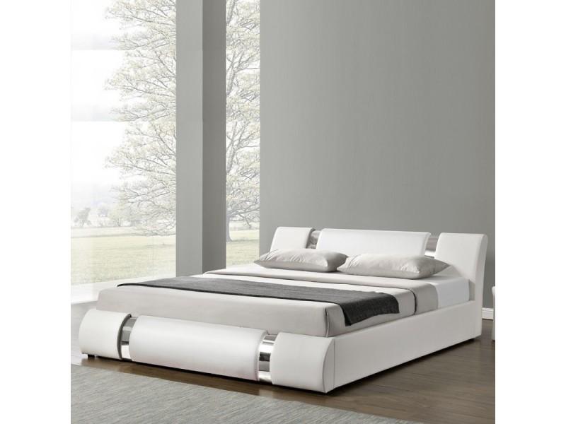 lit coffre sommier relevable nova blanc 180x200 vente de meubler design conforama. Black Bedroom Furniture Sets. Home Design Ideas