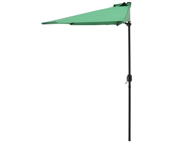 [casa.pro] parasol avec manivelle vert demie rondø300cm grand balcon jardin