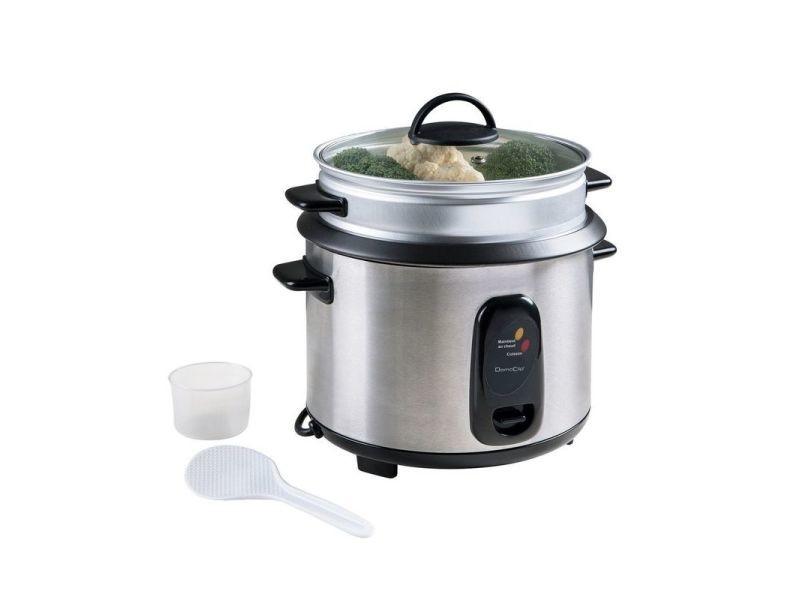 Cuiseur 1,9l panier vapeur et riz 2 en 1 base inox légume autocuiseur