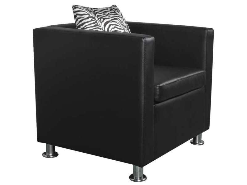 Icaverne - fauteuils club, fauteuils inclinables et chauffeuses lits edition fauteuil cuir synthétique noir
