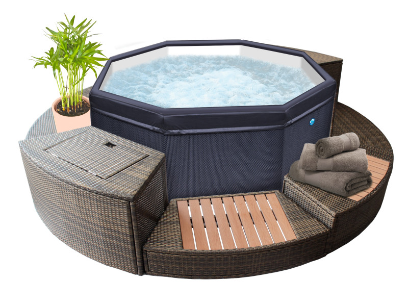 Netspa Spa Gonflable Octopus 4 6 Places Mobilier 5 Elements