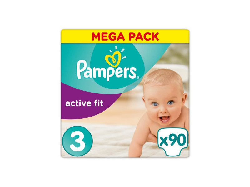 Pampers Active Fit Taille 3 4 A 9 Kg 90 Couches Vente De
