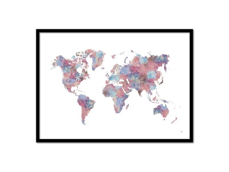 Conforama Carte Monde.Affiche Art 50x70 Peinture Carte Monde Vente De Wall