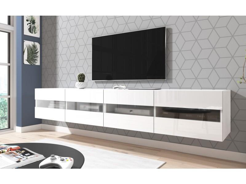 Moderne et fonctionnel rtv murey blanc 200 cm