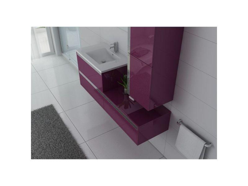 Meuble de salle de bain simple vasque sublissimo aubergine - Vente ...