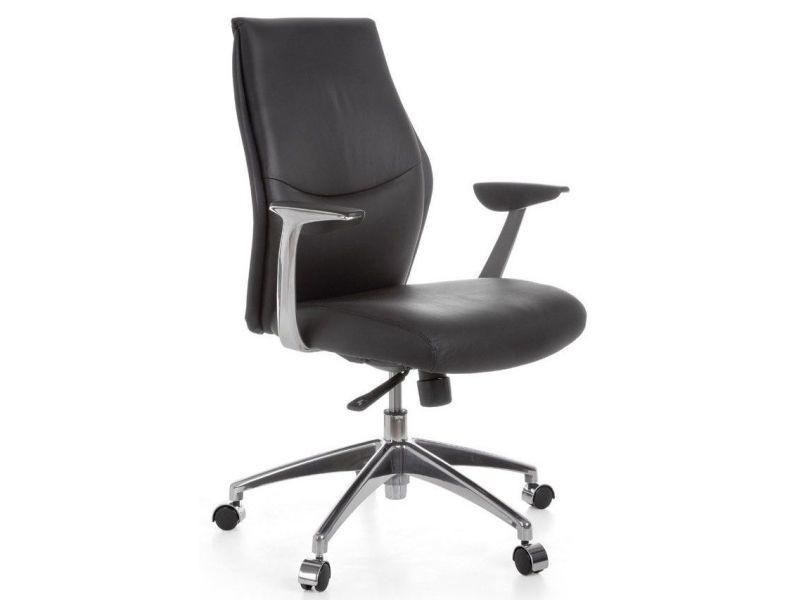 Véritable Coloris Chaise Bureau En Noir De Vente Cuir Pivotante vNnOwm80