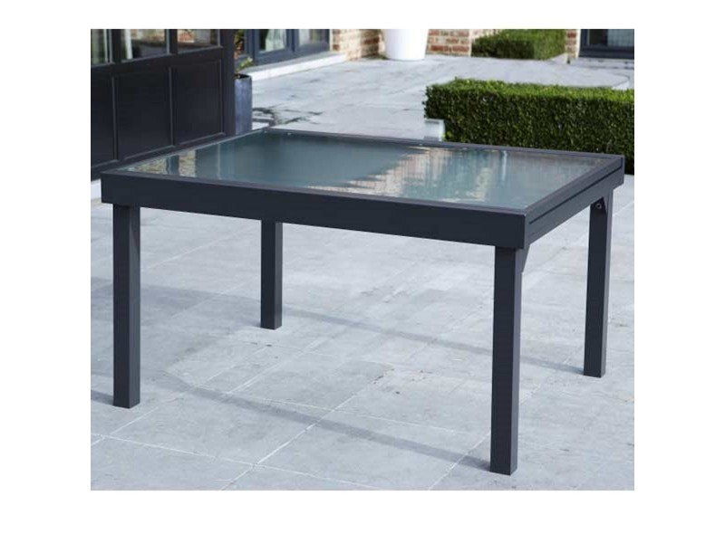 Table de jardin 135/270 modulo 10 places grise W_600019 ...