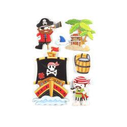 Sticker 3d rêve - 30 x 40 cm - pirate