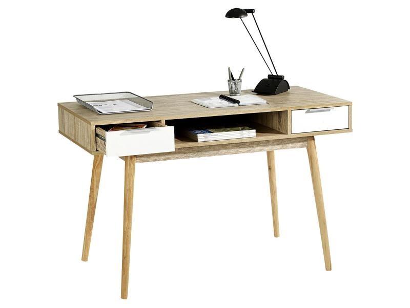Console newport table d appoint style scandinave bureau tiroirs