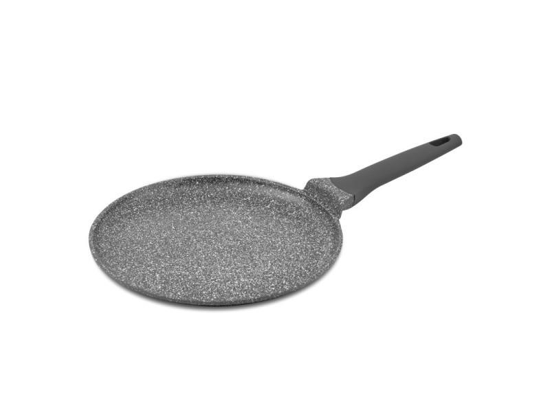 Crêpière en fonte d'aluminium anti-adhesive 28cm 0.8l couvercle verre trempe et silicone tfi icone kitchencook