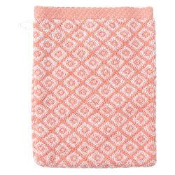 Gant de toilette 16x21 cm shibori mosaic orange 500 g/m2