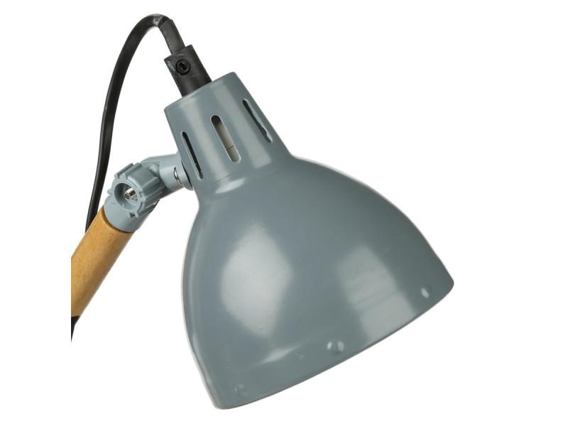 Lampe de bureau en bois et métal gris atmosphera vente de