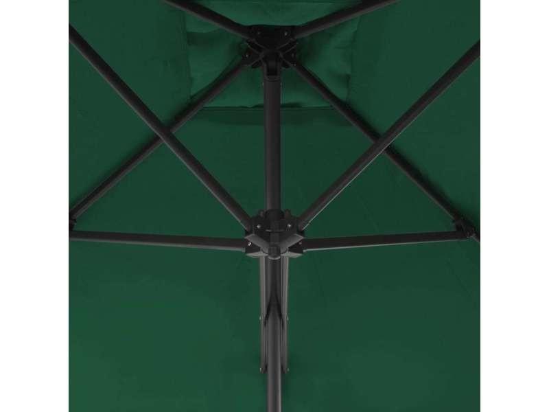 Icaverne - parasols et voiles d'ombrage reference parasol d'extérieur avec mât en acier 250 x 250 cm vert