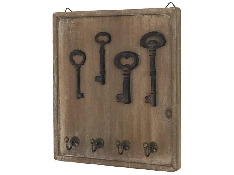 Porte clés clefs mural en bois boîte à clé clef 14121