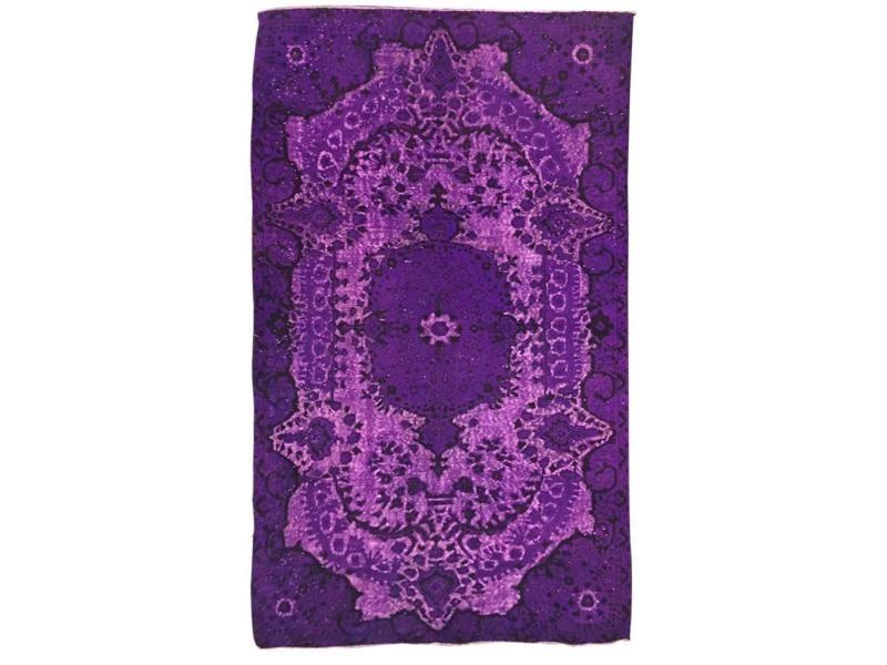 Tapis grand dimensions unique oriental vintage violet 166 x ...