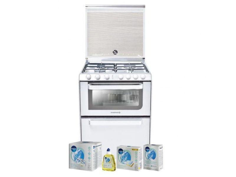 Lave-vaisselle posable blanc 6 couverts combiné four table de cuisson