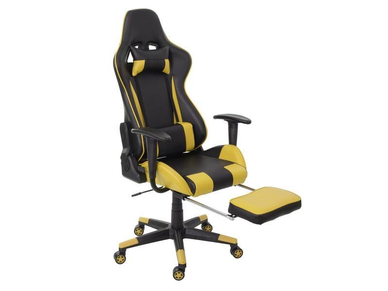 Chaise de bureau hwc d xxl capacité kg similicuir noir