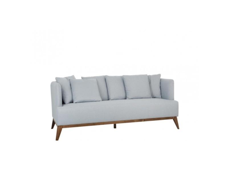 Canapé 3 places bleu ciel - neptune - l 190 x l 80 x h 79 - neuf ...
