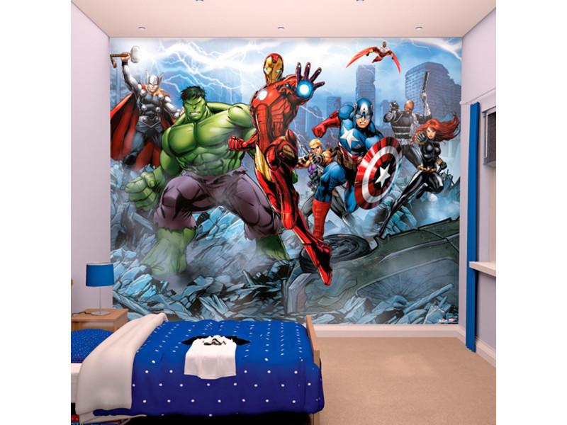Papier Peint Enfant Assemble Avengers Walltastic Vente De Chambre