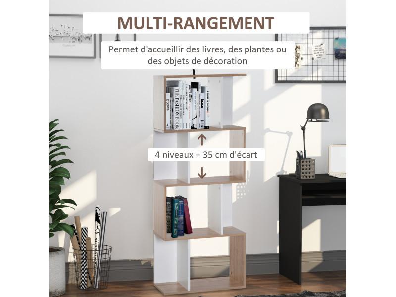 biblioth que tag re meuble de rangement design contemporain en s 4 tag res 60l x 24l x 148h cm. Black Bedroom Furniture Sets. Home Design Ideas