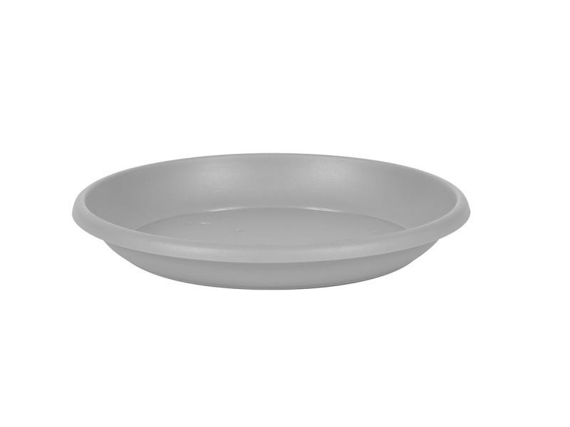 Soucoupe cancun ø 21 cm pour pot cancun ø 30 cm - gris béton