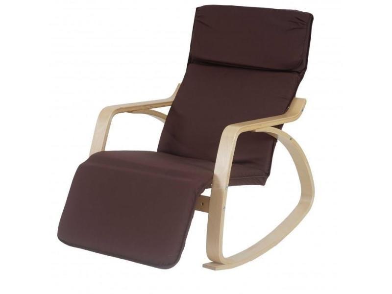 fauteuil bascule relaxation 95x66x115cm marron fab04012. Black Bedroom Furniture Sets. Home Design Ideas