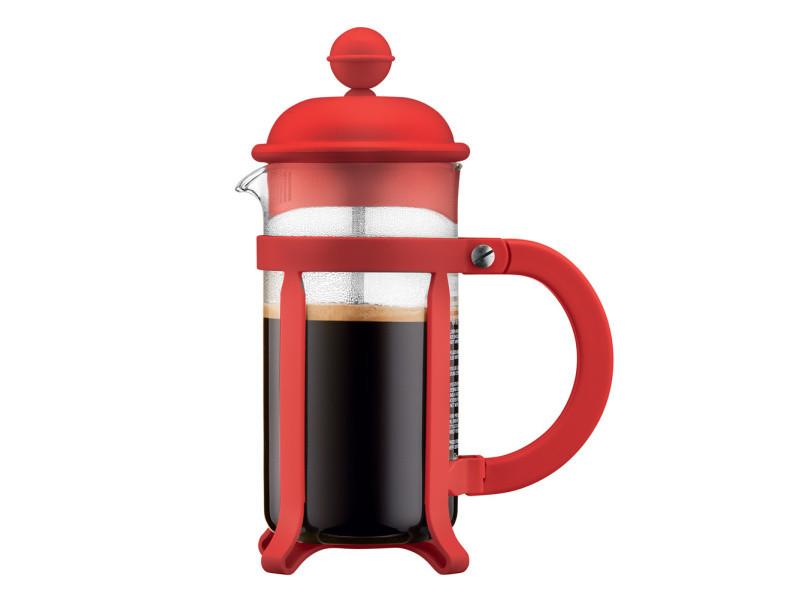 Cafetière à piston 3 tasses java rouge