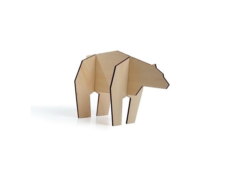 Puzzle 3d en forme d'animaux - ours - taille m