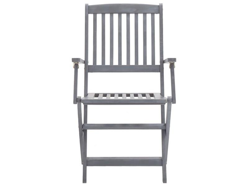Vidaxl chaises pliables d'extérieur 2 pcs bois d'acacia solide 46333