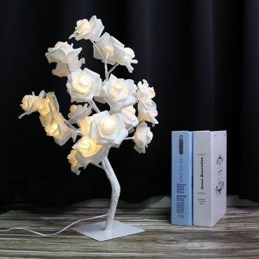 Lampe de chevet design rosier branches r glables for Lampe de chevet a piles