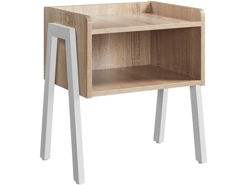 Yaheetech table de chevet table de nuit industriel 46 x 35 x 52,5 cm chêne clair