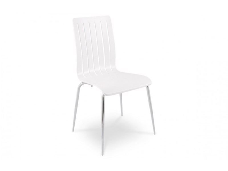 Chaise moderne en bois couleur blanc conforama for Chaise moderne couleur