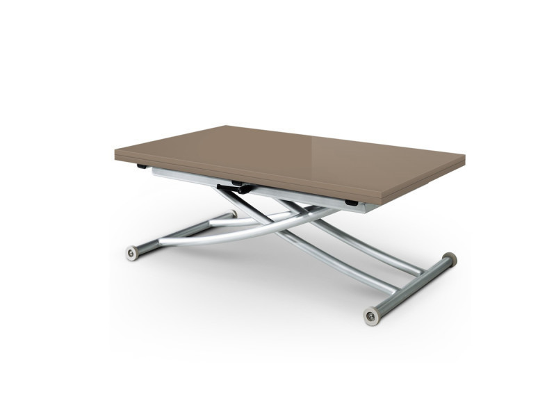 Table basse relevable extensible first taupe laqu conforama - Table basse relevable extensible conforama ...