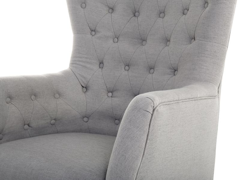 en gris style tissu 24026 viborg chesterfield Fauteuil MqzUpGSV