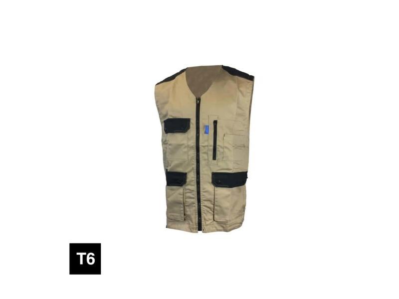 Gilet de travail cepovett kargo pro light - beige et noir - taille 6 20-98678053-6