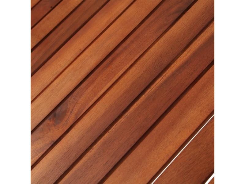 Icaverne - tables de jardin serie table de jardin 160 x 85 x 74 cm bois d'acacia massif ovale
