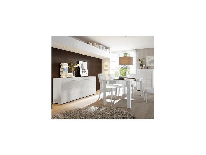 Salle manger compl te blanc laqu brillant newland - Conforama catalogue salle a manger ...